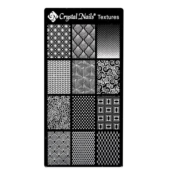 Egyedi Crystal Nails Körömnyomda lemez - Textures
