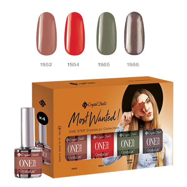 Most Wanted! ONE STEP CrystaLac készlet 2018 Autumn-Winter (4x4 ml)