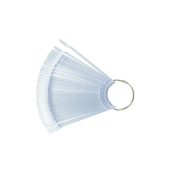 Clear nyeles tip fém gyűrűvel - 50db