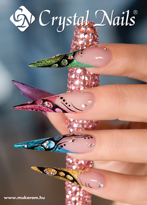 Crystal Nails poszter 2 - Malekné Vigh Mária 50x70cm