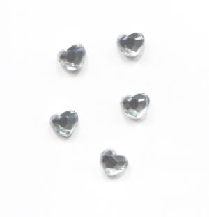 Strassz szív ezüst 50/cs