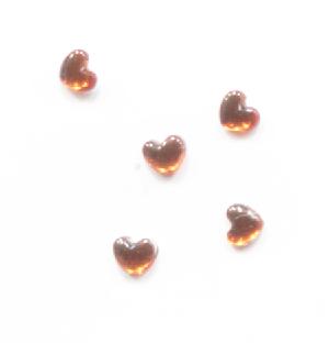 Strassz szív narancs 50/cs