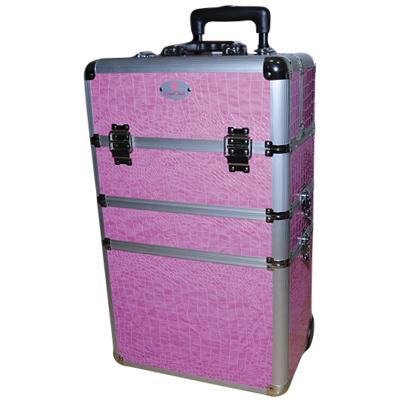 Óriás fémbőrönd Crystal Nails logóval - Pink (2.) 72f133c6eb