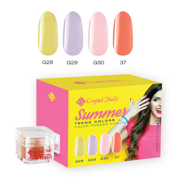 2017 Trend colors Summer Színes porcelánpor kit