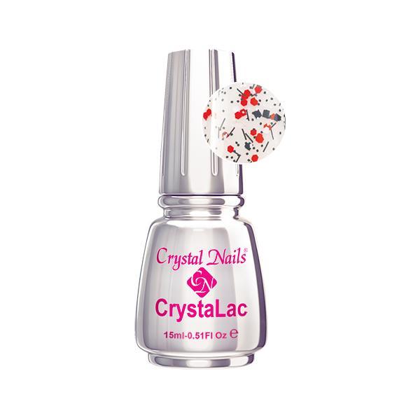 Konfetti effekt CrystaLac - Konfetti piros15ml