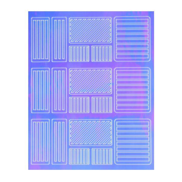 Mirror Nail Art Sticker 3
