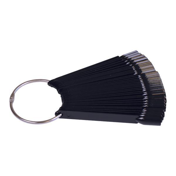 Fekete nyeles tip fém gyűrűvel, 50db-os