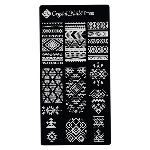 Egyedi Crystal Nails Körömnyomda lemez - Ethno
