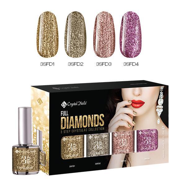 Full Diamonds 3 STEP CrystaLac készlet (4x4ml)