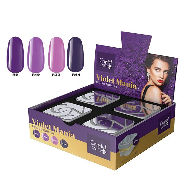 Violet Mania Royal Gel készlet - 4x4,5ml