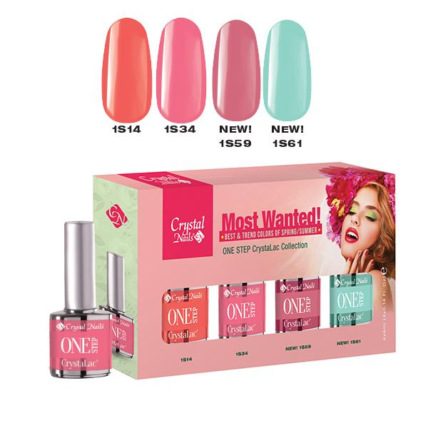 Most Wanted! ONE STEP CrystaLac készlet 2018 Spring-Summer (4x4 ml)