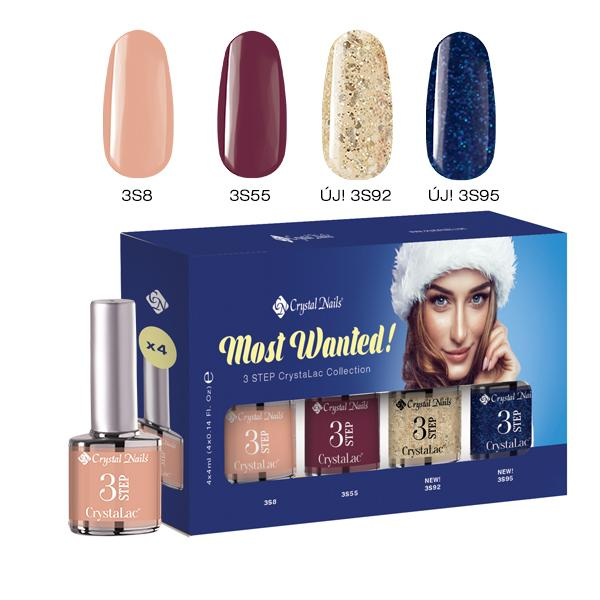 Most Wanted! 3 STEP CrystaLac készlet 2018 WINTER (4x4ml)