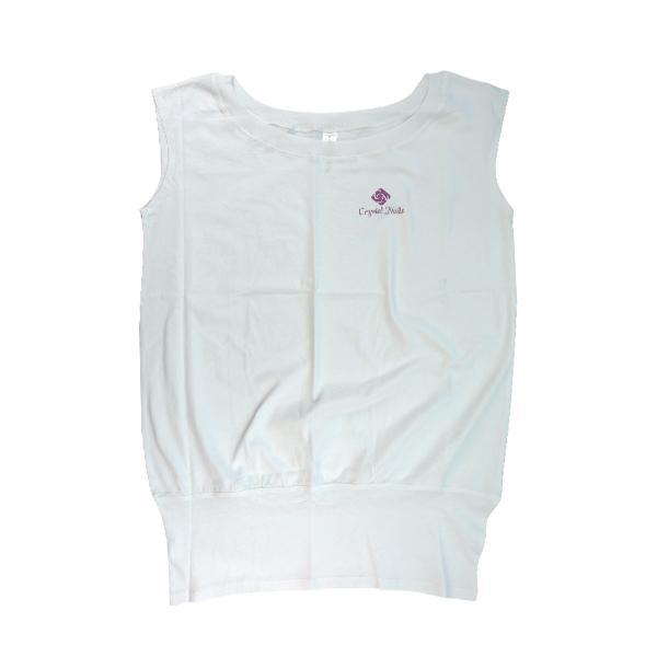 Fehér, félvállas női póló L