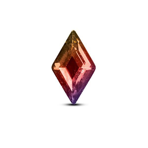 CRYSTALLIZED™ - Swarovski Elements - 001AB (Crystal Aurora Borealis) Rombusz