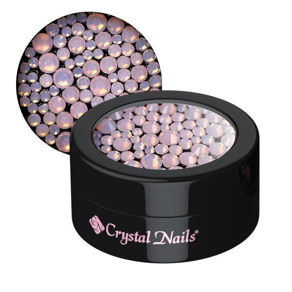 Opál strasszkő vegyes méretekben - pink