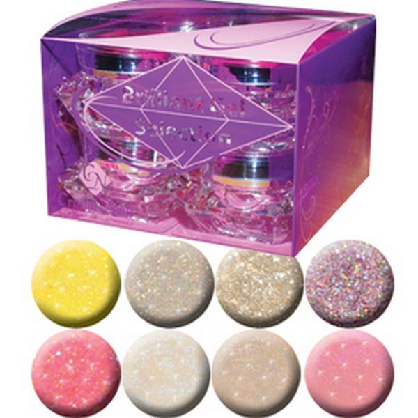 Brilliant Gels I.- Válogatás Brilliant színes zselékből - 8 x 5ml