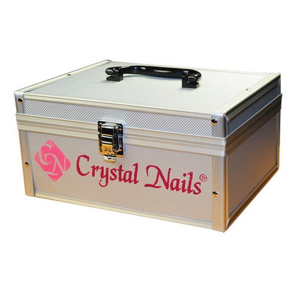 Kicsi fémtáska Crystal Nails logóval - Ezüst