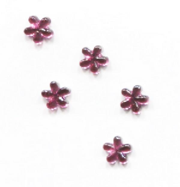 Strassz virág sötétrózsaszín 50/cs