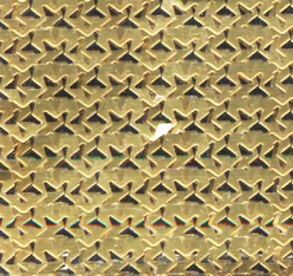 Szivárványos hálóminta arany