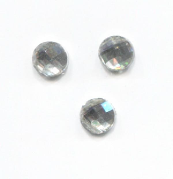 Nagy strassz kerek - ezüst (2)