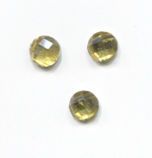 Nagy strassz kerek - sárga (1)