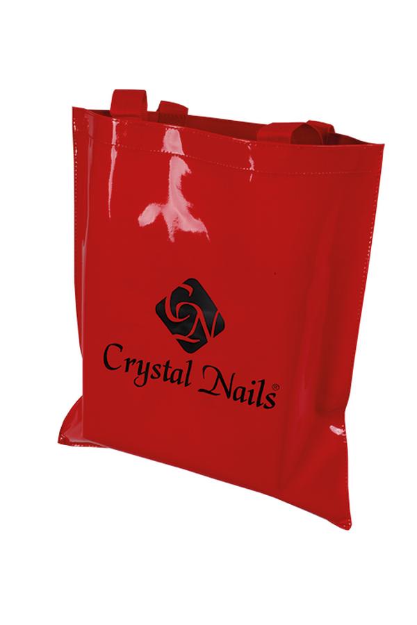 Crystal Nails lakkhatású reklámtáska - piros
