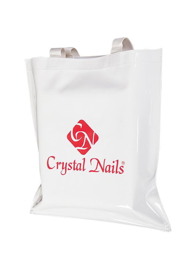 Crystal Nails lakkhatású reklámtáska - fehér