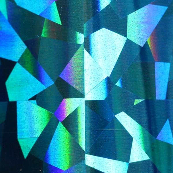 Transzferfólia - Holo tükör blue