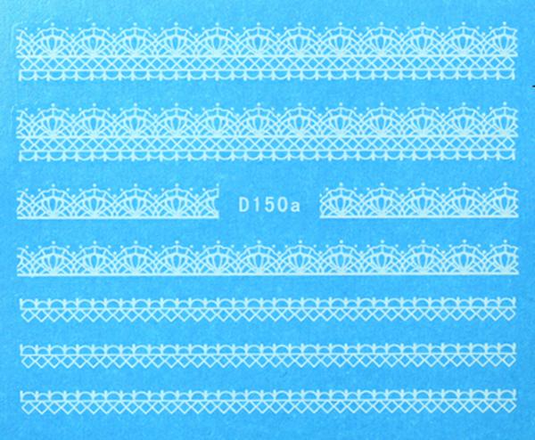 CN köröm matrica (D150a - fehér)