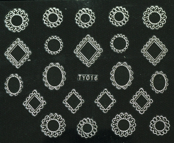 CN köröm matrica (TY016 - ezüst)