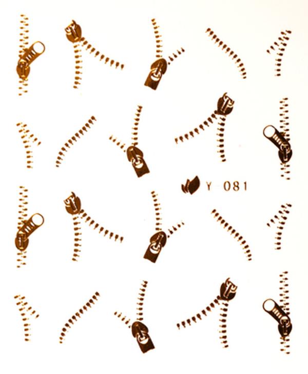 CN köröm matrica (Y081 - arany)