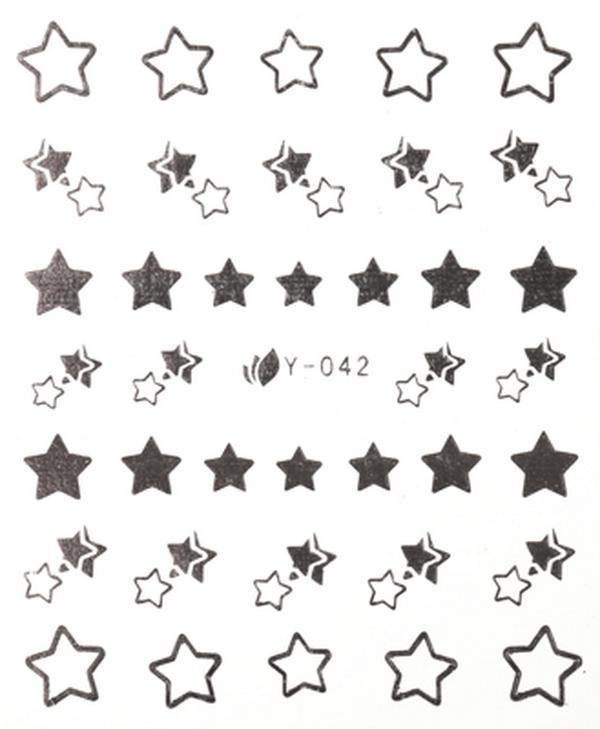CN köröm matrica -26 (Y042 - ezüst)