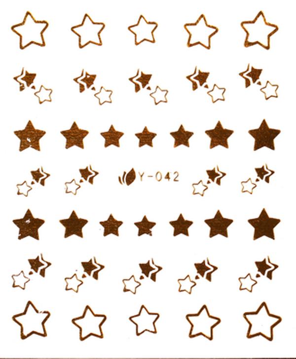 CN köröm matrica -27 (Y042 - arany)