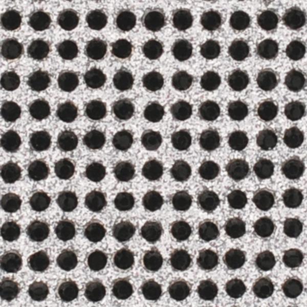 Crystal Sticker dekor fólia - Matt fekete, Holo ezüst 6x10cm