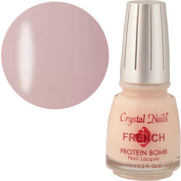 507 Crystal Nails Francia lakk 15ml - Light pink