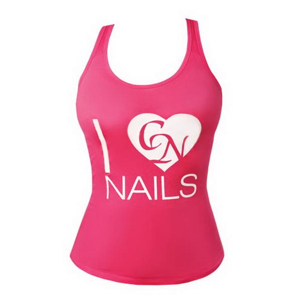 I Love Nails Top - Pink (L méret)