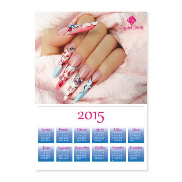 Crystal Nails Poszternaptár 2015 - Kék  (50x70cm)