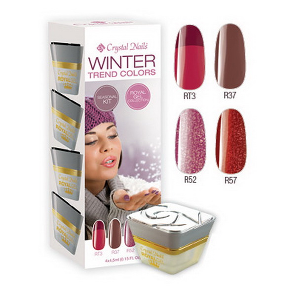Trend Colors Winter Royal Gel készlet - 4x4,5ml