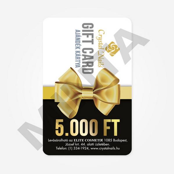 Crystal Nails Gift Card ajándékkártya - 5000 Ft értékben