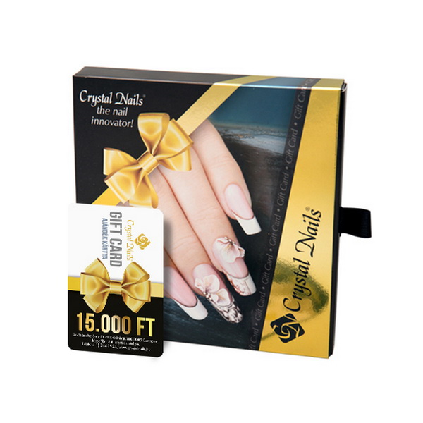 Crystal Nails Gift Card ajándékkártya AJÁNDÉK díszdobozzal - 15000 Ft értékben