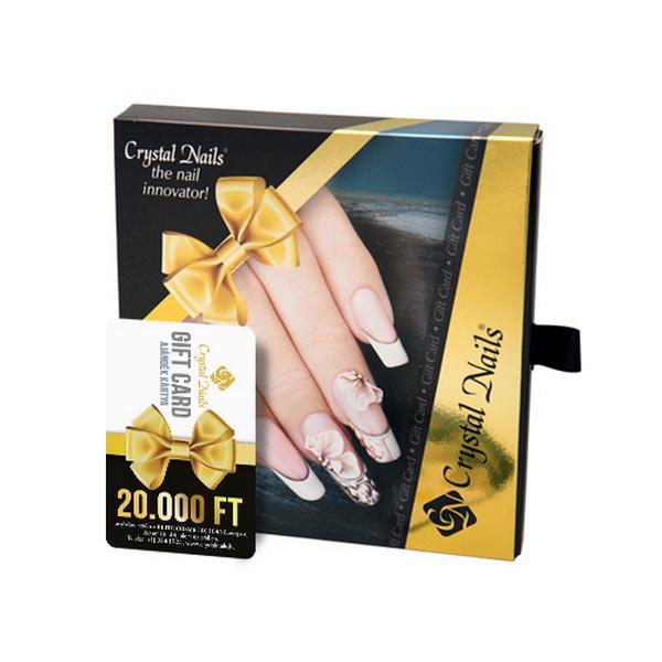 Crystal Nails Gift Card ajándékkártya AJÁNDÉK díszdobozzal - 20000 Ft értékben