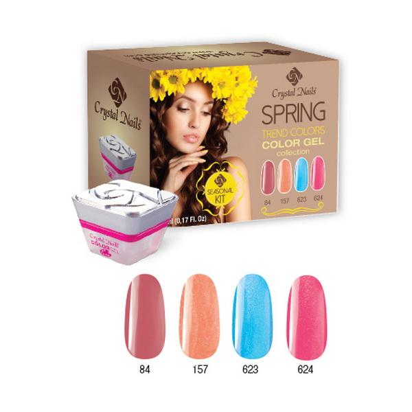 2015 Trend Colors Spring színes zselé készlet - 4x5ml