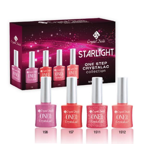 Starlight ONE STEP CrystaLac (Gél Lakk) készlet - 4x4ml