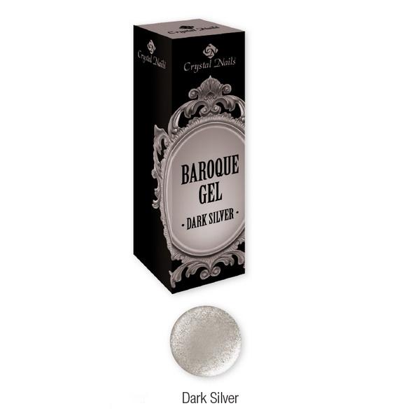 Baroque Gel díszítő zselé - Dark Silver (5ml)