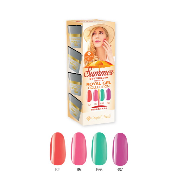 Bestseller Colors Summer 2015 Royal Gel készlet (4x4,5ml)
