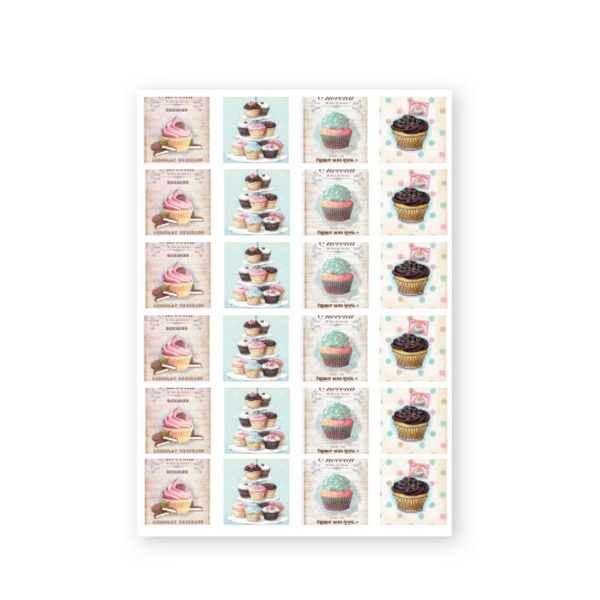 CN Baroque Stickers - Cake