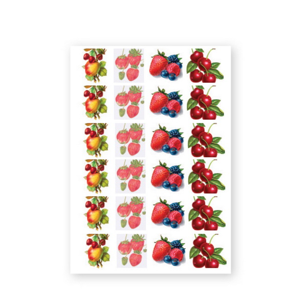 NailArt Baroque Stickers - Fruit