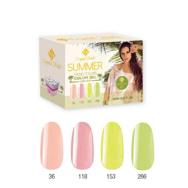 Trend Colors Summer 2015 színes zselé készlet (4x5ml)