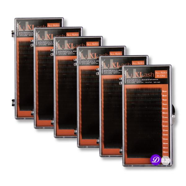 LuXLash All Size in One - vegyes méretű pillák D/0.20