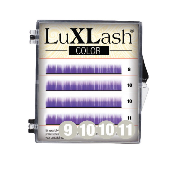 LuXLash Color Lash - Purple D/0,15 (9,10,11)